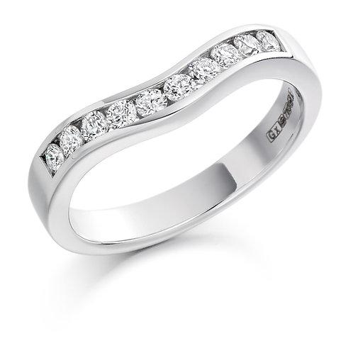 Curved Round Brilliant Cut Half Eternity Ring