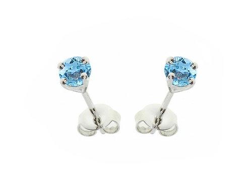 Blue Topaz Sterling Silver Stud Earrings 5001ESILBT