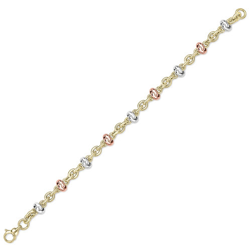 White, Rose and Yellow Gold Bracelet
