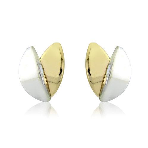 Beautiful Two Toned Stud Earrings