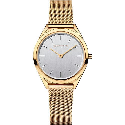 Ultra Slim polished gold Bering 17031-334