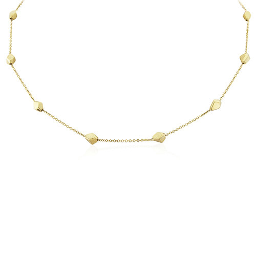 Yellow Gold Faceted MotifsNecklace