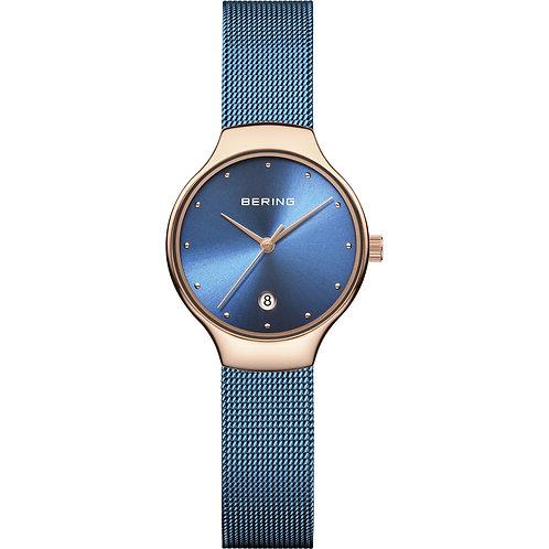 Bering Watch Classic Rose Gold Blue 13326-368