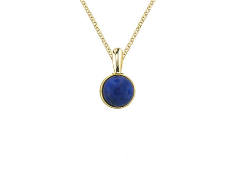 Yellow Gold Rub Over Astra Lapis Necklace 6288WLAP