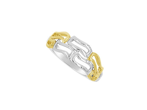 Two Tone Gold Golden Girl Ring 6955WY