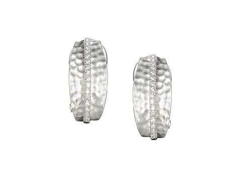 Silver Wembley Arch Earrings 6575SILCZ