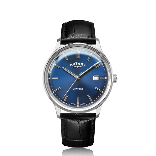 Rotary Avenger Stainless Steel Blue Dial Watch GS05400/05