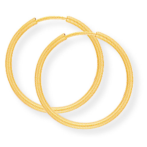 9ct 18 mm Yellow Gold Sleepers.