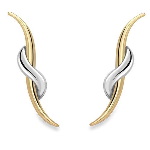 Beautiful Yellow Gold Stud Earrings