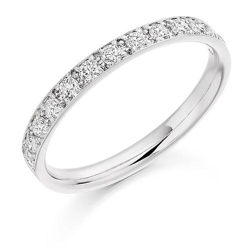 White Gold Brilliant Cut Diamond Half Eternity Rings