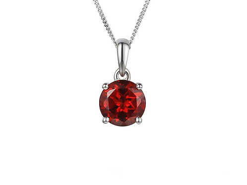 Silver Garnet Purity Necklace 5001PSILGT
