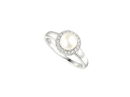 Silver Pearl Candy Ring 6071SILCZ/PL