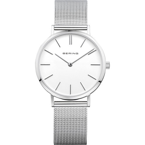 Bering Classic Polished Silver Ladies Watch  14134-004