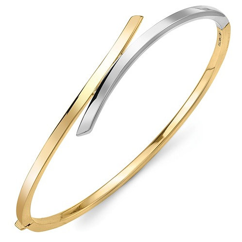 Two Tone Crossover Bangle