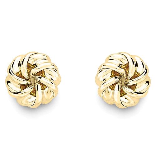 8mm Knot Stud Earrings