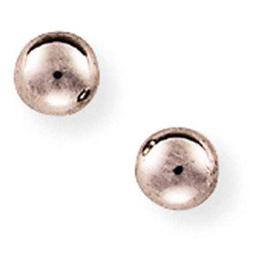 5mm White Gold Ball Stud Earrings