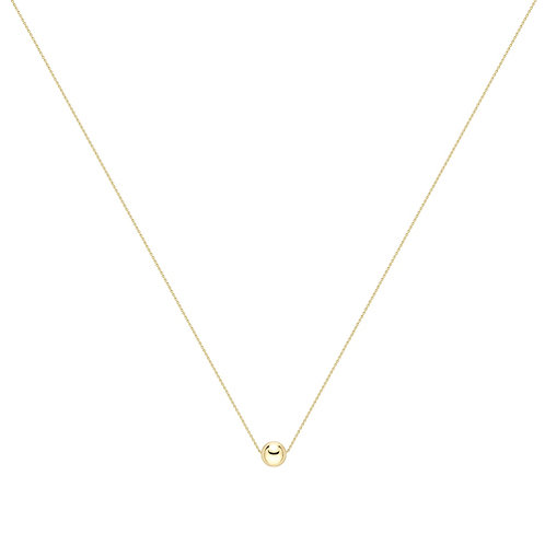 Yellow Gold Ball Necklace