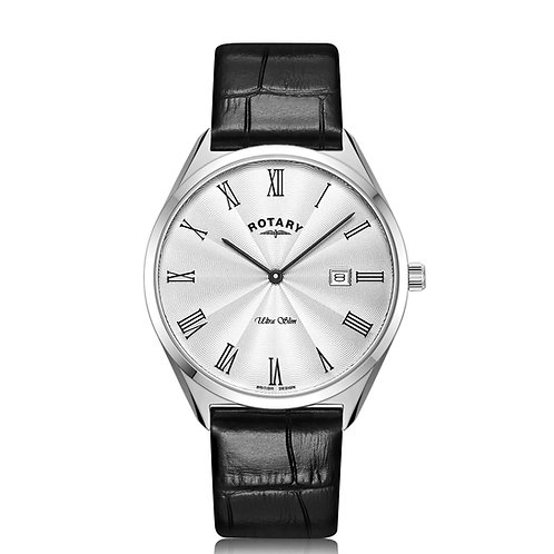 Rotary Ultra Slim Leather Watch