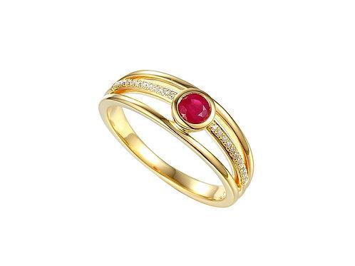 Forbidden Planet Ruby Diamond Ring 8542YDR