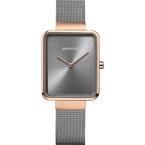 Bering Classic Watch  | Gray and Rose gold | 14528-369