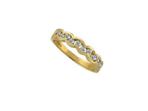 9ct Yellow Gold Adulation Diamond Ring 0575YD