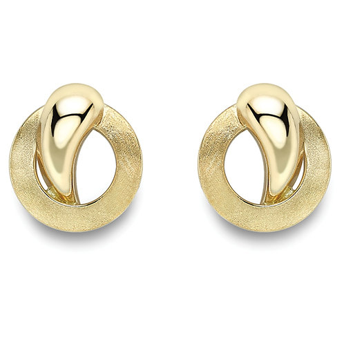 Sophisticated Yellow Gold Stud Earrings