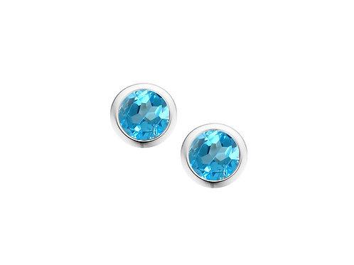 Blue Topaz Sterling Silver Orbit Earrings 5004SILBT