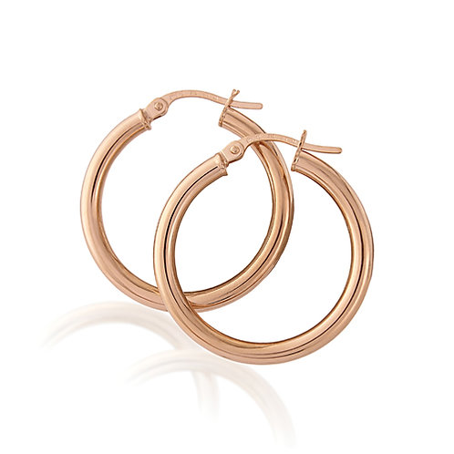 Classic Rose Gold Hoop Earrings