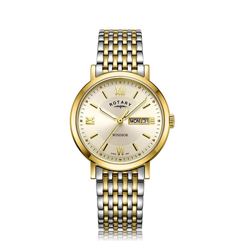 Rotary Two Tone Gold Windsor Gents Watch