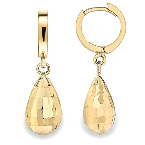 9ctYellow Gold Drop Huggie Earrings