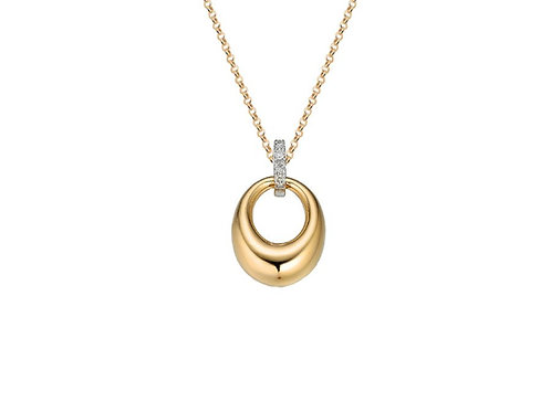 9ct Yellow & White Gold Clancy Necklace