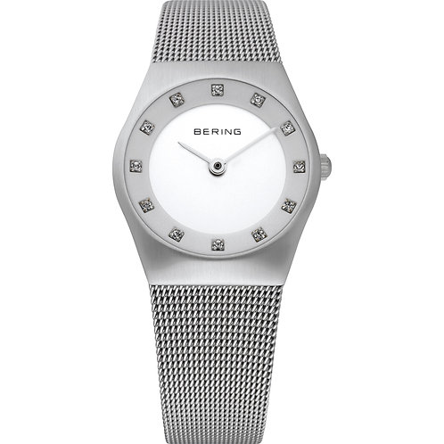 Bering Classic Ladies Brushed Silver Watch 11927-000