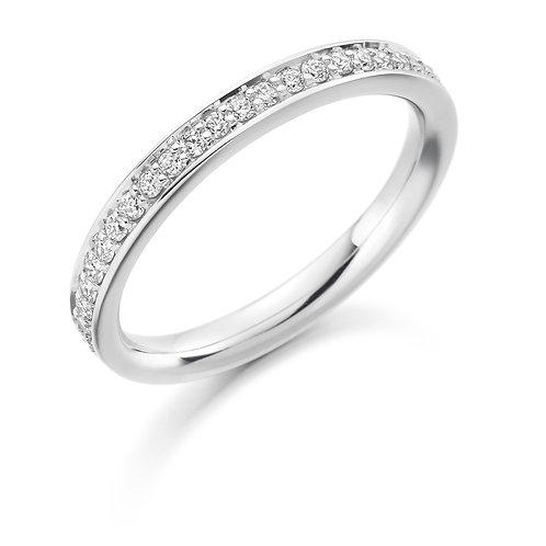 White Gold Brilliant Cut Diamond Half Eternity Ring