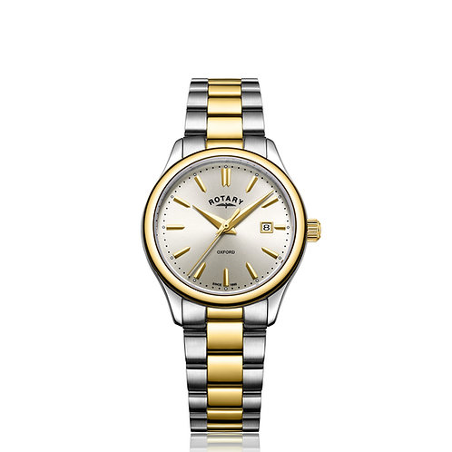 Rotary Two Tone Gold Oxford Ladies Watch LB05093/03