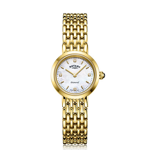 Rotary Ladies Diamond Set Gold PVD Balmoral Watch