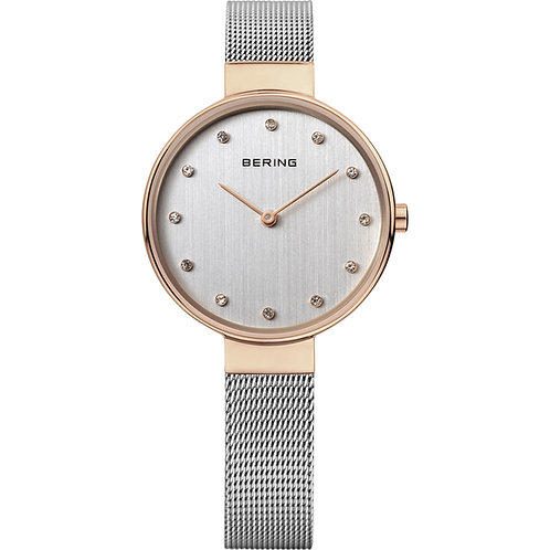 Bering Classic Polished Rose Gold Ladies Watch  12034-064