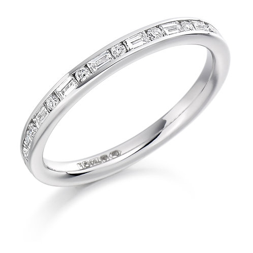 Mixed Cut Diamond Half Eternity Ring