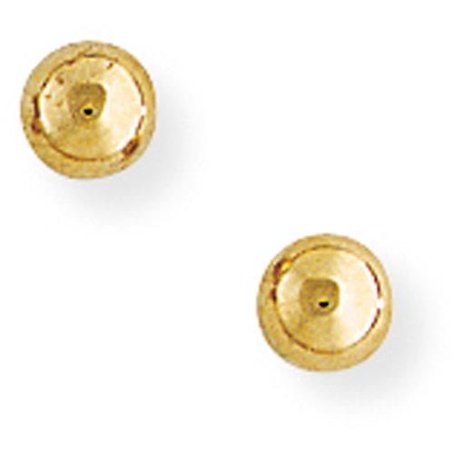 4mm Yellow Gold Ball Studs.
