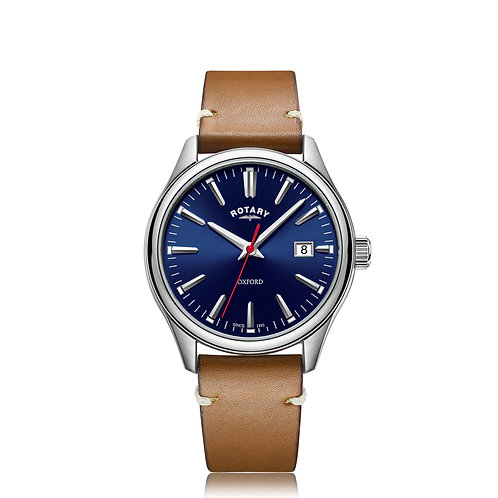 Rotary Gents Strap Stainless Steel Oxford Watch