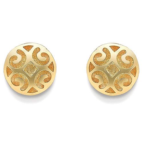 Stylish Domed Yellow Gold Studs