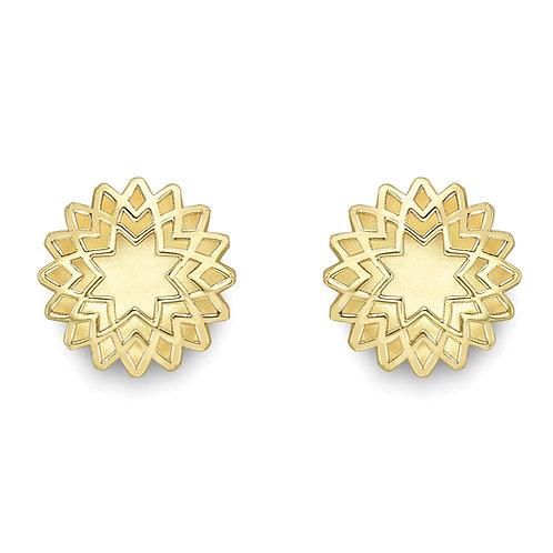 Star-Shaped Stud Earrings.