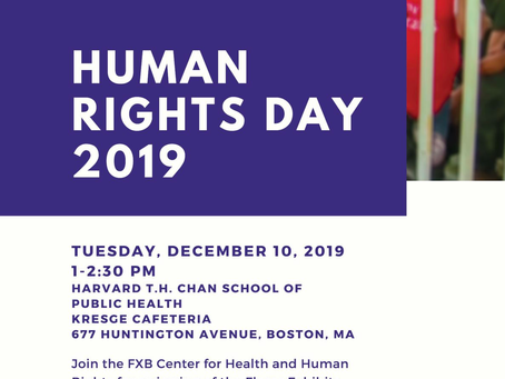 Human Rights Day: The Flores Exhibits Viewing