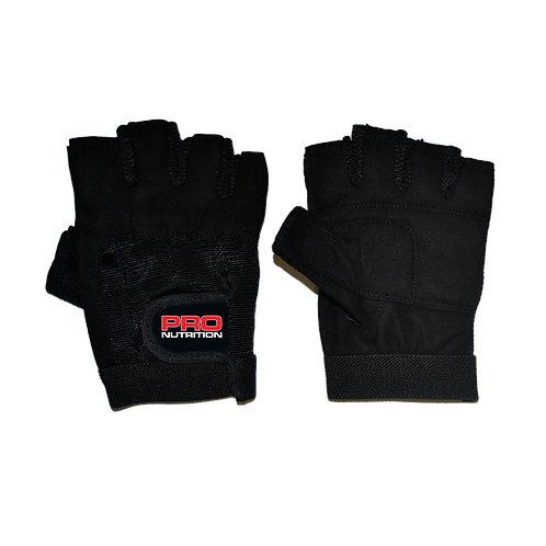 Pro Nutrition Black Leather Gloves