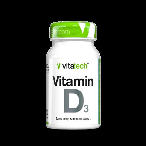 NUTRITECH VITATECH VITAMIN D3  30CAPS