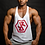 """Thumbnail: IR FITNESS WEAR """"NEW EDITION"""" TANK WHITE/RED"""