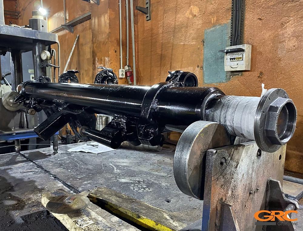 Фотография барабанной оси SAF после ремонта