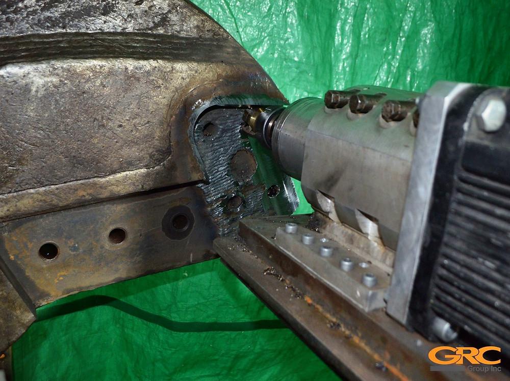 Чистовая фрезеровка в заводские размеры посадочного места под ножи гидроножниц ZATO