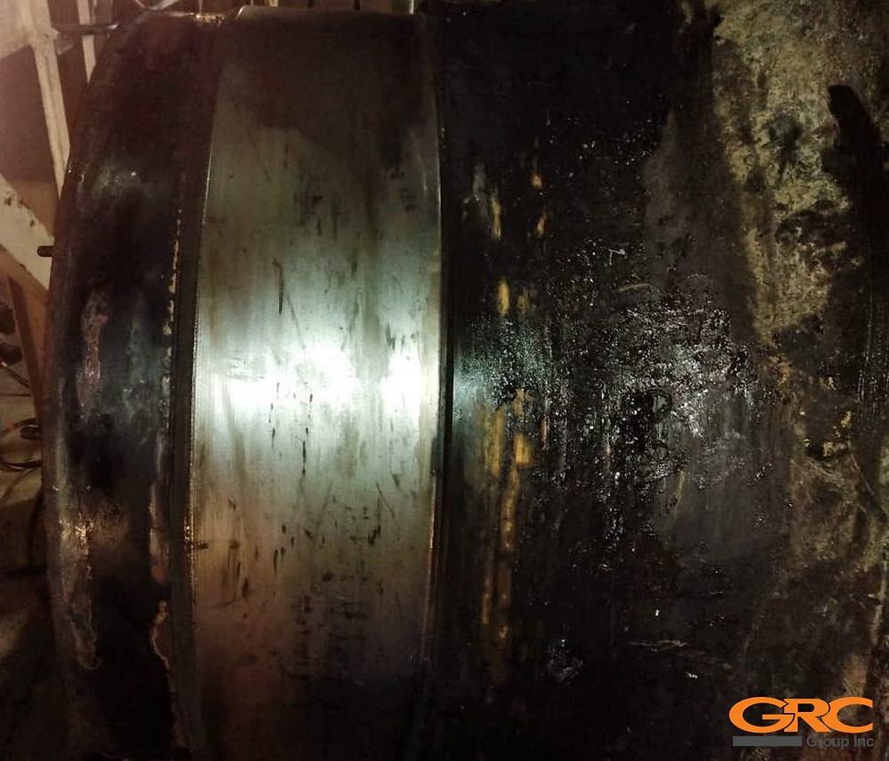 Посадочное место под подшипник мельницы CEMTEC до ремонта
