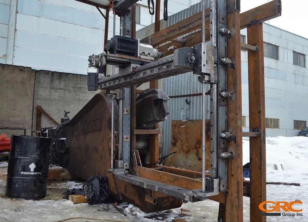 Устанавливаем оснастку (портал) для мобильного фрезерного станка собственного производства
