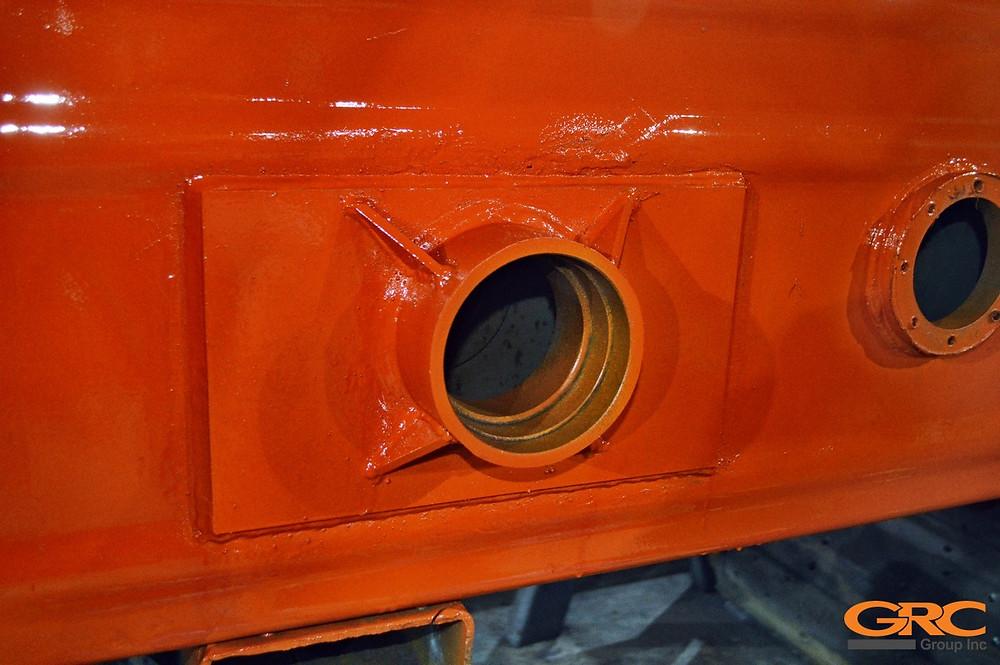 Восстановленные посадочные места осей фронтального погрузчика Wecan GM 800